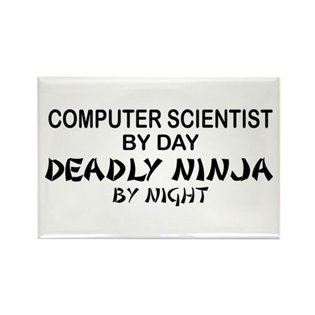 Computer Scientist Deadly Ninja by Night Rectangle