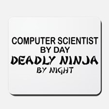 Computer Scientist Deadly Ninja by Night Mousepad