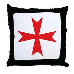Sign of the Templar Throw Pillow