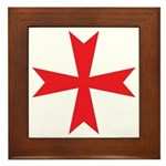 Sign of the Templar Framed Tile