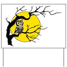 Harvest Moon Owl Yard Sign