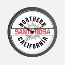 Santa Rosa California Wall Clock