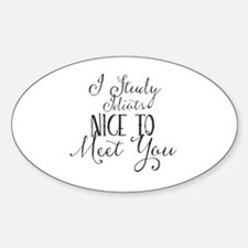 Unique Nice to meet you dog Sticker (Oval)