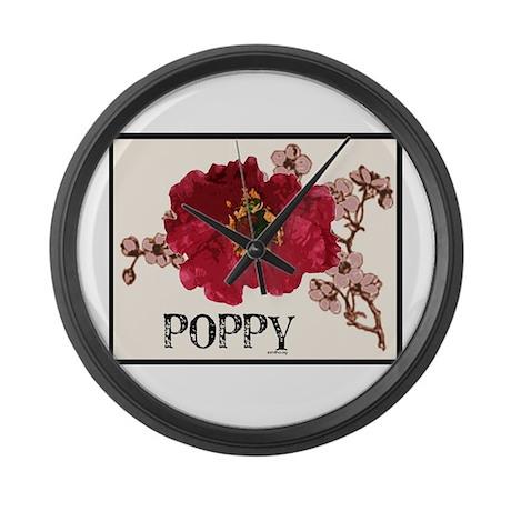 Poppy Logo Large Wall Clock