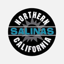 """Salinas California 3.5"""" Button"""