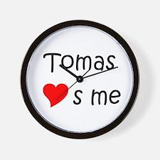 Funny Tomas Wall Clock