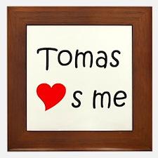 Funny Tomas Framed Tile