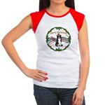 XmasMusic1MC/Border Collie Women's Cap Sleeve T-Sh