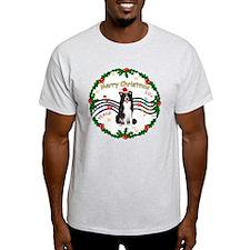 XmasMusic1MC/Border Collie T-Shirt