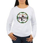 XmasMusic1MC/Border Collie Women's Long Sleeve T-S