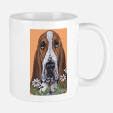 Basset Hound & Flowers Mug