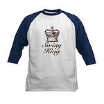 Swing King Swing Dancing Kids Baseball Jersey