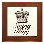 Swing King Swing Dancing Framed Tile