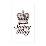 Swing King Swing Dancing Rectangle Sticker 10 pk)