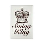 Swing King Swing Dancing Rectangle Magnet (100 pac