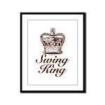 Swing King Swing Dancing Framed Panel Print
