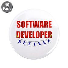 "Retired Software Developer 3.5"" Button (10 pack)"