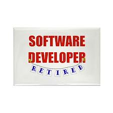 Retired Software Developer Rectangle Magnet (100 p