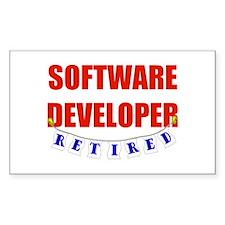 Retired Software Developer Rectangle Decal