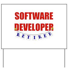 Retired Software Developer Yard Sign