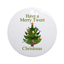 Tweet Christmas Ornament (Round)