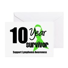 10YrLymphomaSurvivor Greeting Cards (Pk of 10)