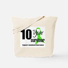 10YrLymphomaSurvivor Tote Bag