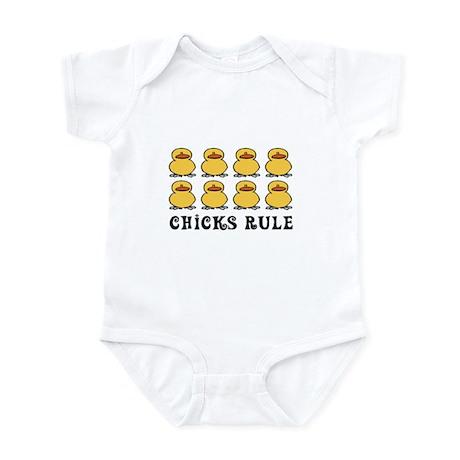 Chicks Rule Infant Bodysuit