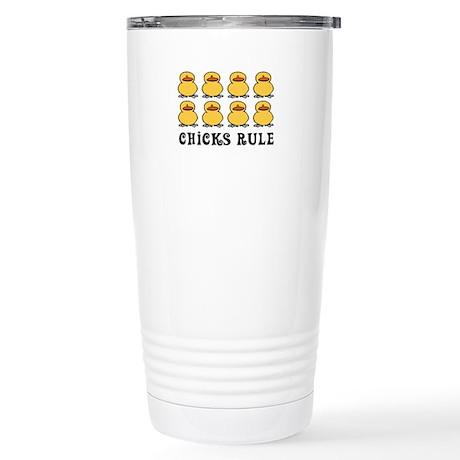 Chicks Rule Stainless Steel Travel Mug