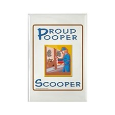 Proud Pooper Scooper - Rectangle Magnet