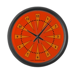 Wedges Large Wall Clock