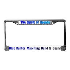 Blue Darter Band & Guard License Plate Frame