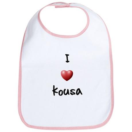 I Love Kousa Bib