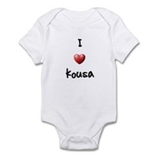 I Love Kousa Infant Bodysuit