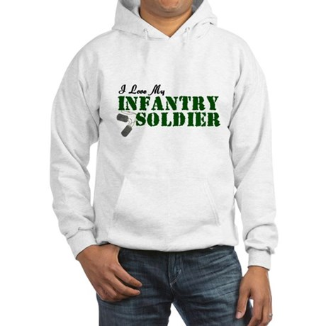 I Love My Infantry Soldier Hooded Sweatshirt
