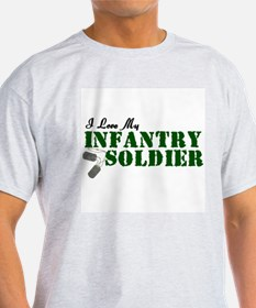 I Love My Infantry Soldier T-Shirt