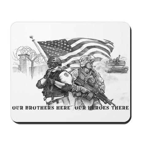 Heroes Black and White Prints Mousepad