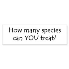 How many species Bumper Bumper Sticker