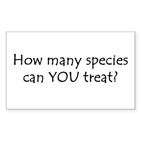 How many species Rectangle Sticker