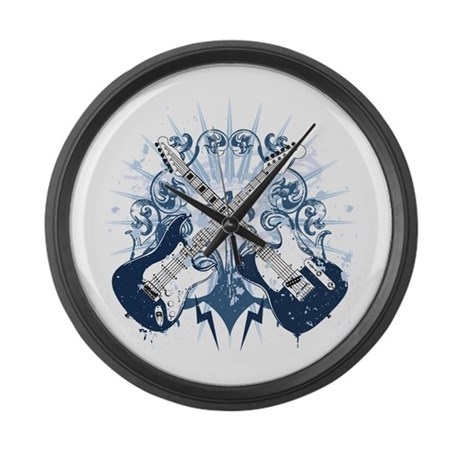 guitars bolts frame large wall clock by designoddity