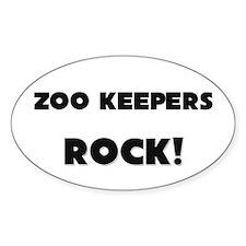 Zoo Keepers ROCK Oval Sticker