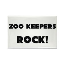 Zoo Keepers ROCK Rectangle Magnet