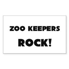 Zoo Keepers ROCK Rectangle Sticker
