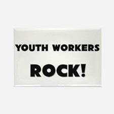 Youth Workers ROCK Rectangle Magnet