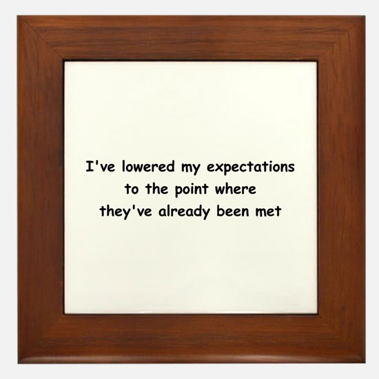 Expectations Framed Tile