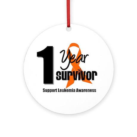 1Year-LeukemiaSurvivor Ornament (Round)