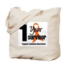 1Year-LeukemiaSurvivor Tote Bag