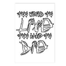 Live And Die Postcards (Package of 8)