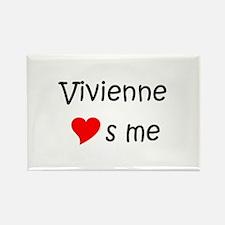 Funny Vivienne Rectangle Magnet