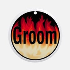 Groom (Flames) Ornament (Round)